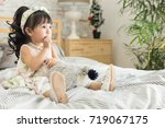 lovely cute and attractive... | Shutterstock . vector #719067175