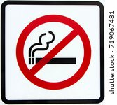 the sign no smoking indicates... | Shutterstock . vector #719067481