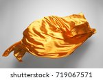 golden flying fabric   art... | Shutterstock . vector #719067571