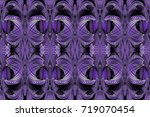 kaleidoscopic purple seamless... | Shutterstock . vector #719070454