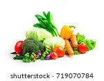 collection vegetables isolated... | Shutterstock . vector #719070784
