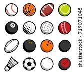 play sport balls logo icon... | Shutterstock . vector #719071045