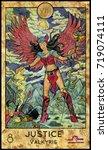 justice. valkyrie. fantasy... | Shutterstock . vector #719074111