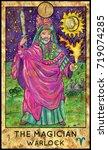 magician. warlock. fantasy... | Shutterstock . vector #719074285
