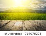 old brown wooden floor beside...   Shutterstock . vector #719075275