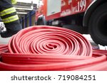 fire brigade fire extinguishers | Shutterstock . vector #719084251