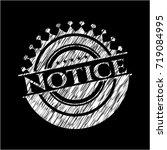 notice chalk emblem   Shutterstock .eps vector #719084995