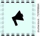 icon of megaphone | Shutterstock .eps vector #719098864