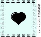 icon of heart. vector... | Shutterstock .eps vector #719098981