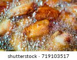 close up fried chicken wings in ...   Shutterstock . vector #719103517