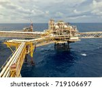 oil and gas platform at offshore | Shutterstock . vector #719106697