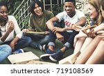 people friendship togetherness... | Shutterstock . vector #719108569