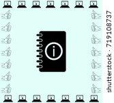 notebook icon  organizer vector ... | Shutterstock .eps vector #719108737