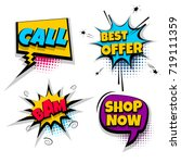 call best offer bam shop set... | Shutterstock .eps vector #719111359