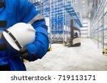 safety hardhat for dangerous... | Shutterstock . vector #719113171