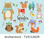 vector illustration of cute... | Shutterstock .eps vector #719113639