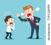 anger boss and employee ... | Shutterstock .eps vector #719116999