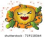 halloween pumpkin | Shutterstock .eps vector #719118364
