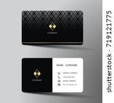 modern business card template...   Shutterstock .eps vector #719121775