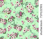 seamless pattern in small white ... | Shutterstock .eps vector #719122501