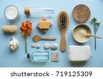 skincare aromatherapy objects... | Shutterstock . vector #719125309