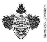 scary cartoon clown...   Shutterstock .eps vector #719130571