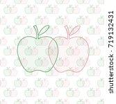 green   red apple pattern on... | Shutterstock . vector #719132431