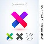 x logo template. vector... | Shutterstock .eps vector #719133721