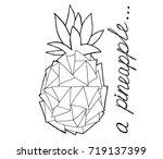 pineapple. hand draw modern... | Shutterstock .eps vector #719137399