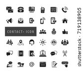 contact icons set  vector | Shutterstock .eps vector #719138905