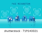business people with face... | Shutterstock .eps vector #719143321