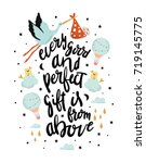 every good and perfect gift is... | Shutterstock .eps vector #719145775