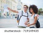 asking for direction | Shutterstock . vector #719149435