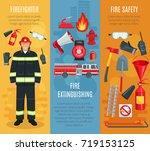 fire extinguishing or... | Shutterstock .eps vector #719153125
