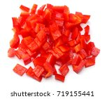 Cut Slices Of Red Sweet Bell...