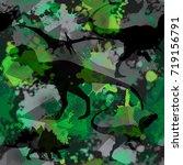 seamless  dino pattern  print... | Shutterstock .eps vector #719156791