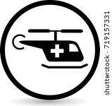 plane medical icons. vector. | Shutterstock .eps vector #719157331