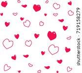 vector red heart love on white... | Shutterstock .eps vector #719158279