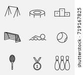 vector illustration of thin... | Shutterstock .eps vector #719167825