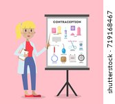 methods of contraception.... | Shutterstock .eps vector #719168467