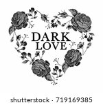 embroidery graphic with slogan | Shutterstock .eps vector #719169385