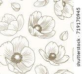 hellebore floral summer autumn... | Shutterstock .eps vector #719170945