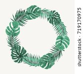 green summer tropical border... | Shutterstock .eps vector #719170975