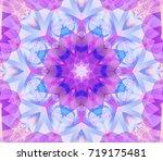 seamless kaleidoscope pink...   Shutterstock . vector #719175481