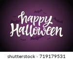 happy halloween   celebration...   Shutterstock .eps vector #719179531