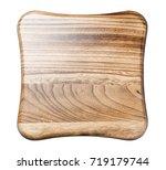 top view of wooden stool ... | Shutterstock . vector #719179744