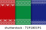 knit pattern. knitting seamless ... | Shutterstock .eps vector #719180191