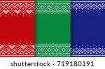 knit pattern. knitting seamless ... | Shutterstock .eps vector #719180191