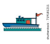 fishing boat icon image  | Shutterstock .eps vector #719181211