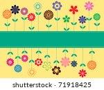 vintage flower card | Shutterstock . vector #71918425